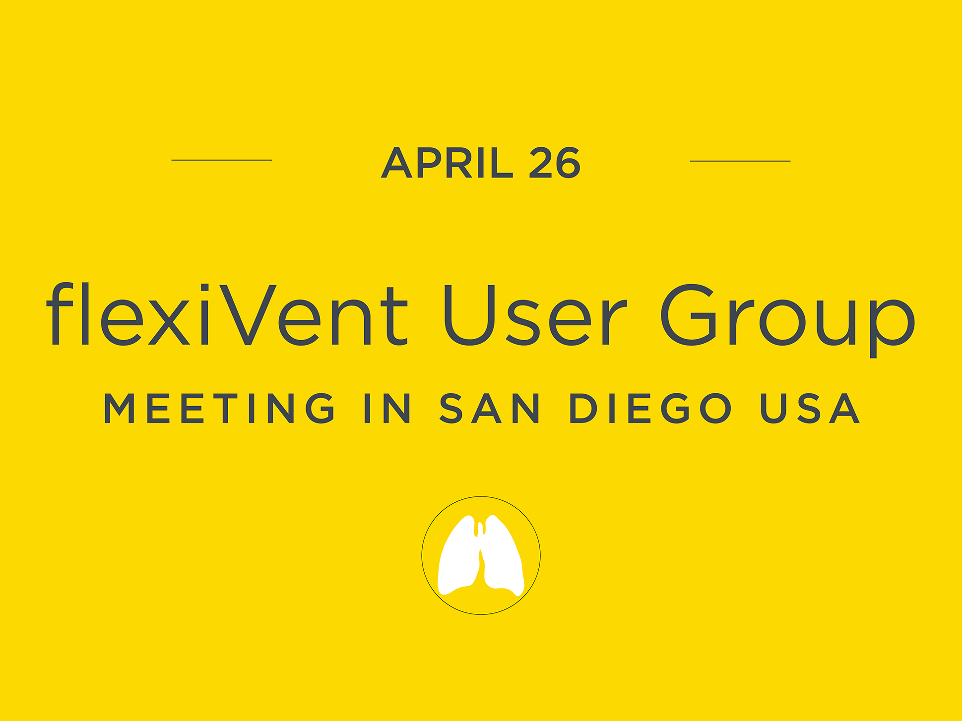 flexiVent User Group Meeting in San Diego flexiVent UGM2018 SanDiego USA